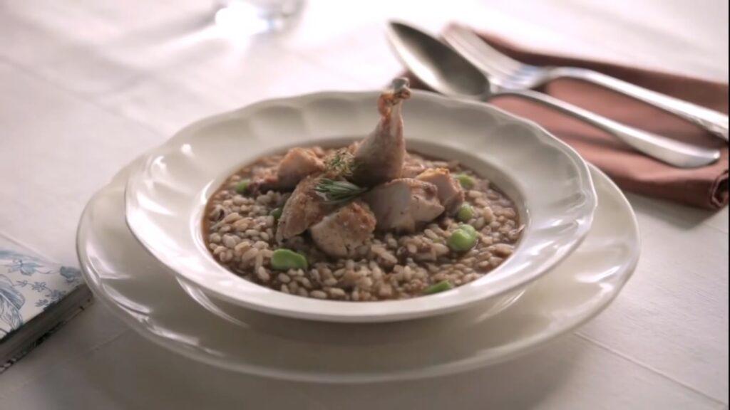 Receta de arroz caldoso de perdiz y morcilla