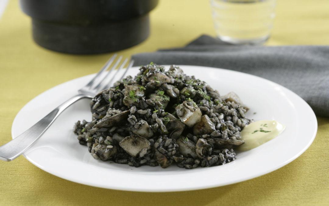Receta de arroz negro de sepia y chirlas