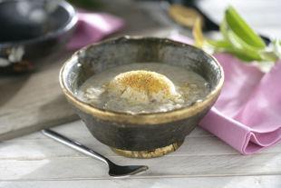 arroz de chufa y helado de jengibre y canela