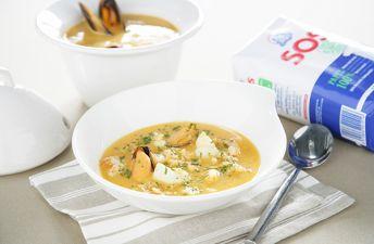 Sopa de pescado y arroz