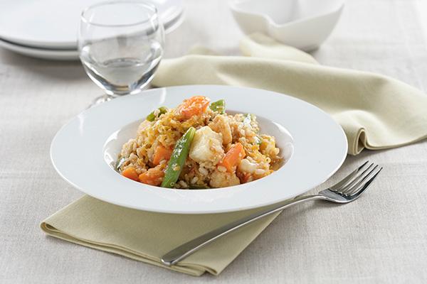 Estofado de verduras con quinoa y arroz
