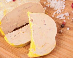 porciones de foie de pato