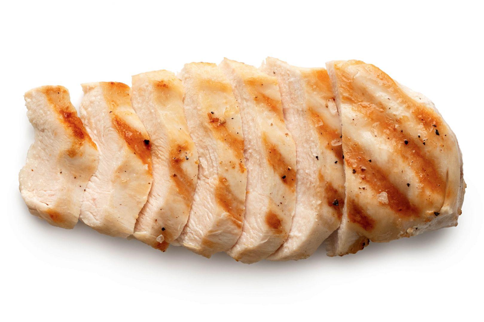 pechuga de pollo a la plancha troceada