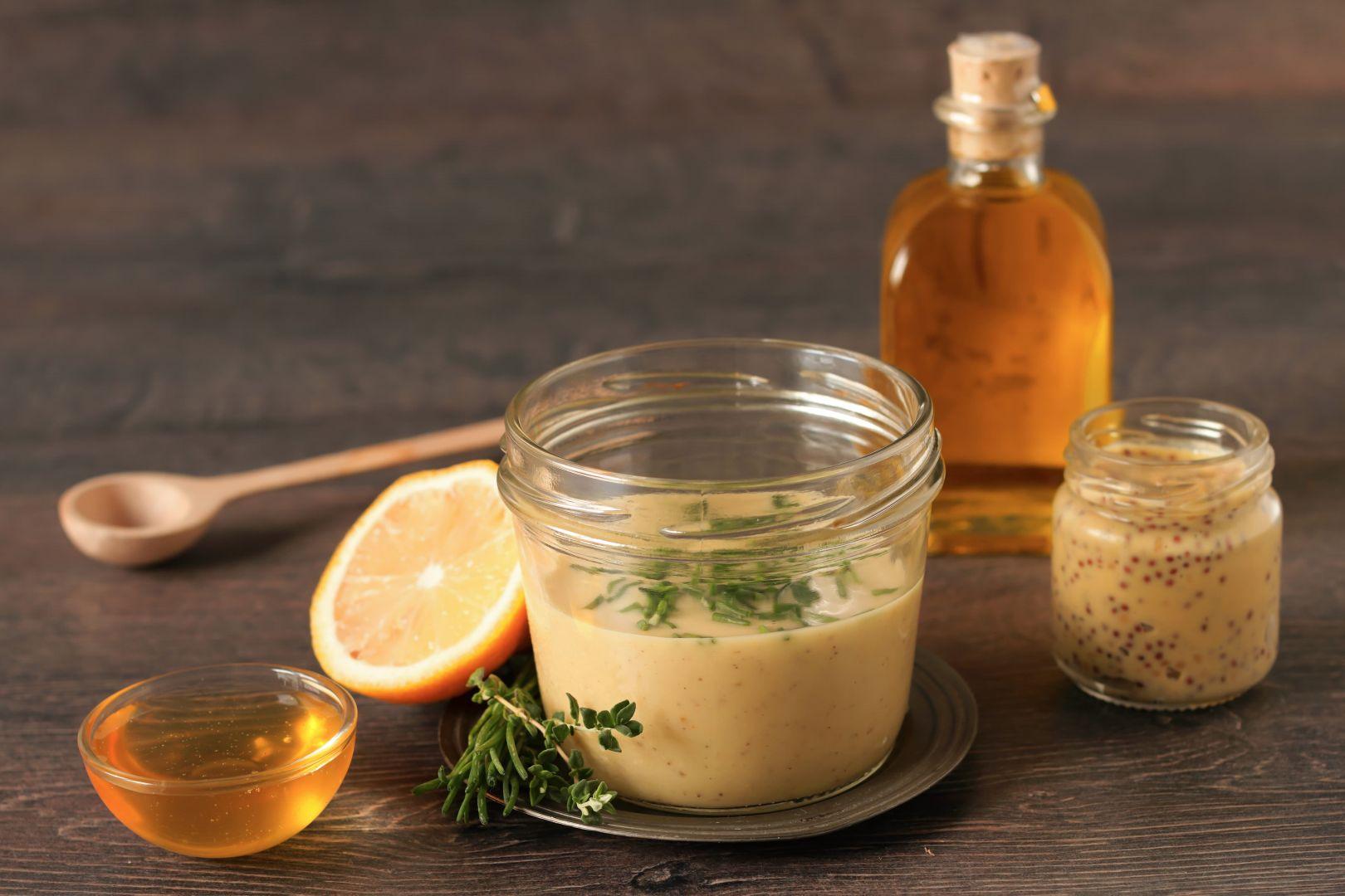 vinagreta con limón miel y mostaza
