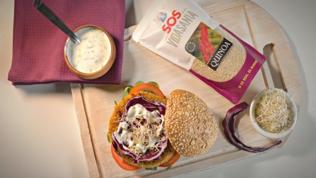 Hamburguesa de quinoa blanca con quinoa SOS Vidasania