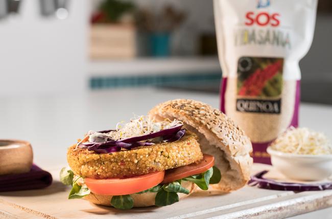 hamburguesa de SOS Vidasania quinoa blanca