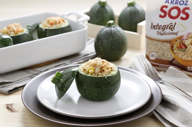 recetas ligeras con queso calabacines rellenos de arroz SOS