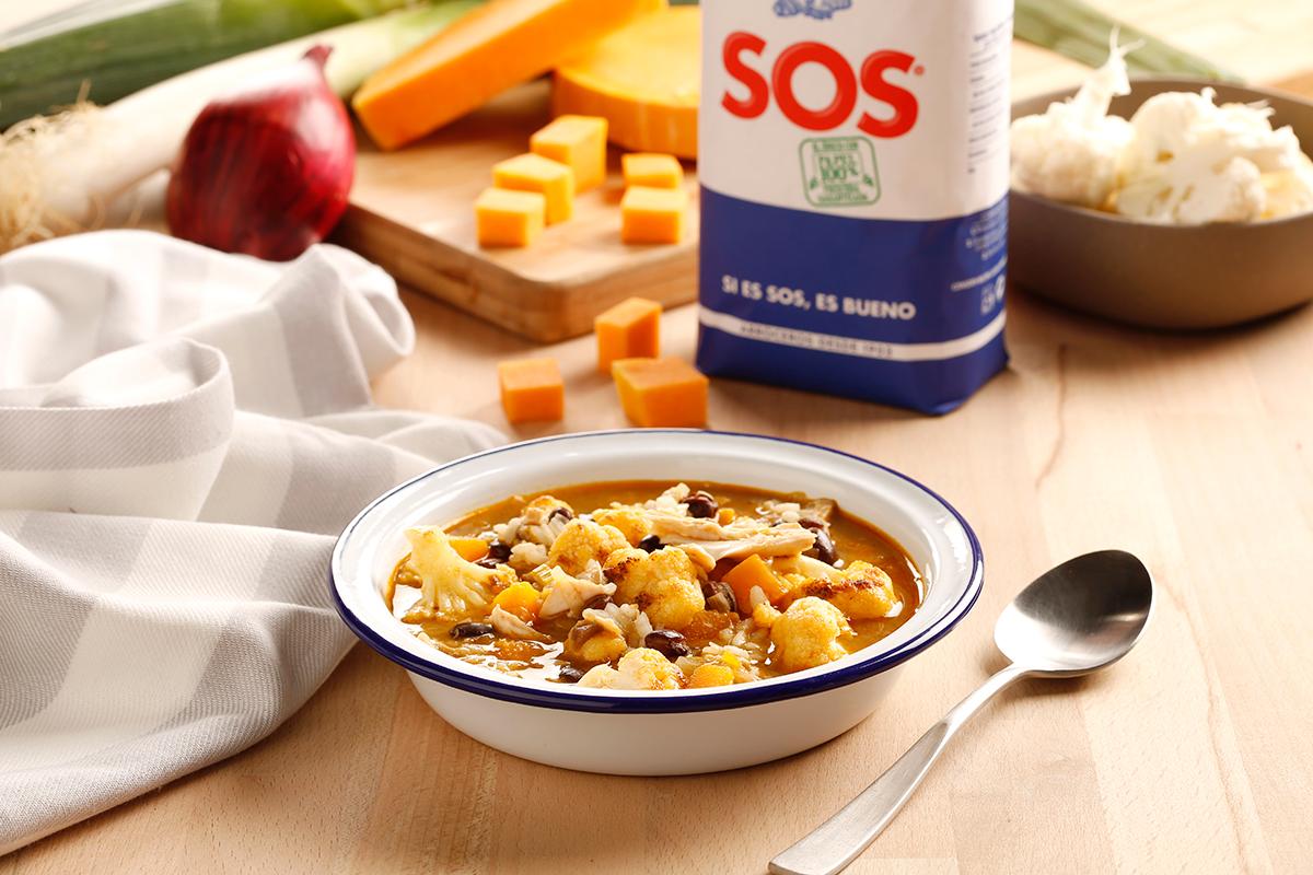 guiso de pollo con arroz clásico SOS cenas saludables