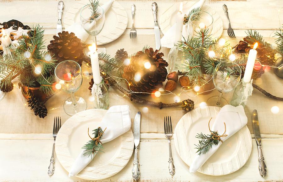 ideas para decorar la mesa navidad