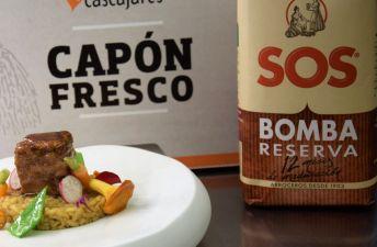 Arroz SOS Bomba de setas con capón de Cascajares