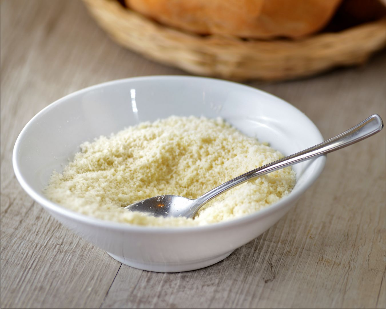 Servimos el arroz con parmesano extra