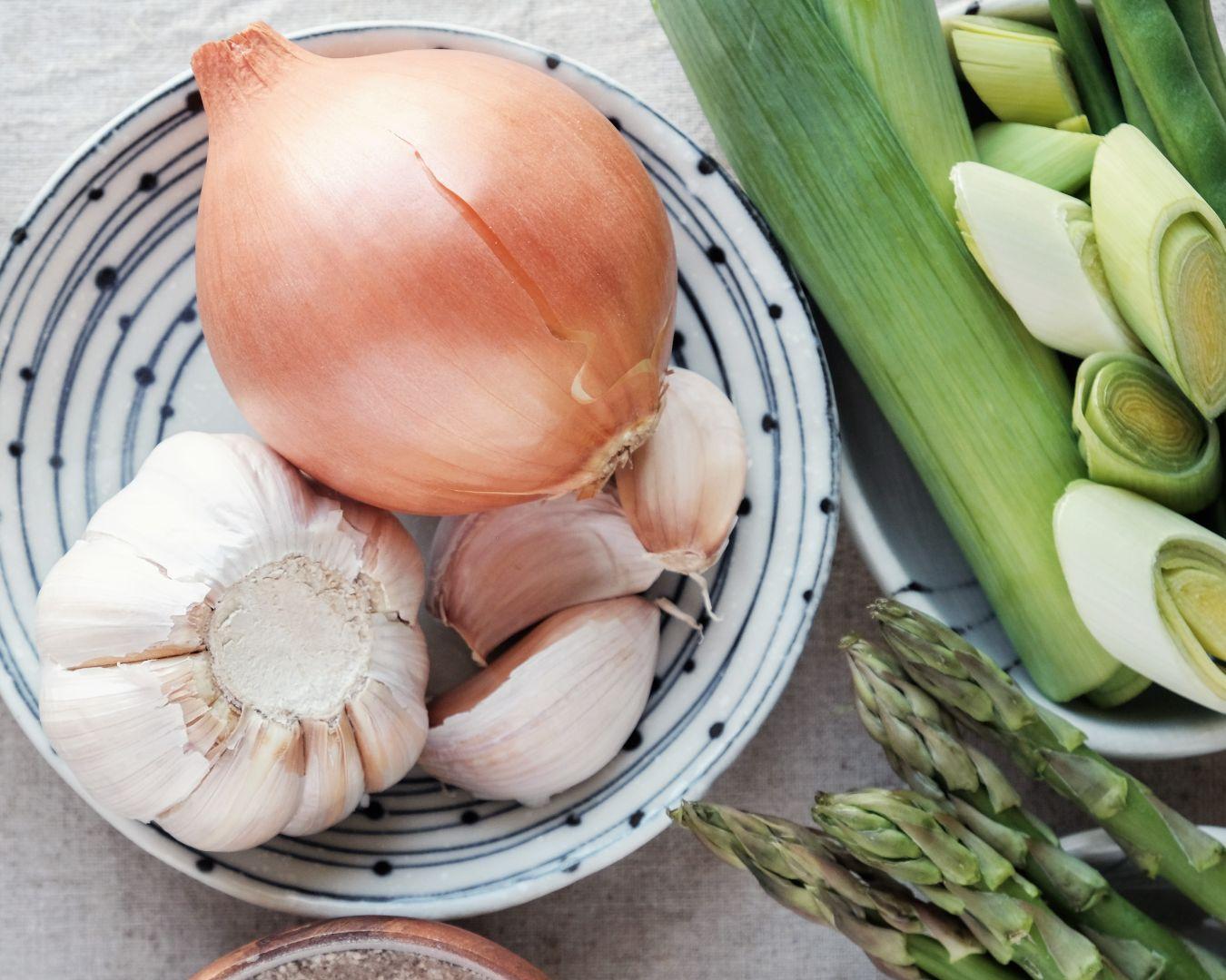 Cebolla, ajos y puerros