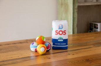 Pelotas de malabares con Arroz SOS