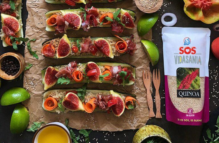 Calabacines rellenos de quinoa por Laura Ponts