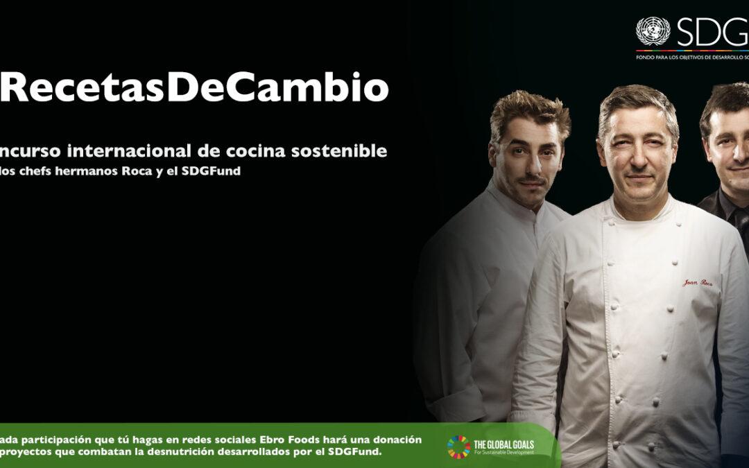 Únete a #RecetasDeCambio por la cocina sostenible