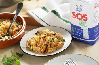 Exquisito arroz marinero para disfrutar de los aromas del verano