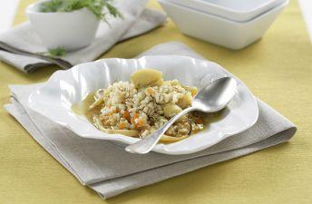 Guiso marinero de sepia y arroz integral con quinoa