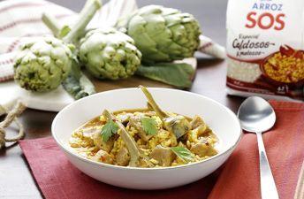 Video receta arroz meloso con magro y alcachofas