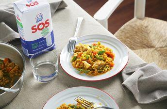 Delicioso arroz con verduras como el que hacía tu madre