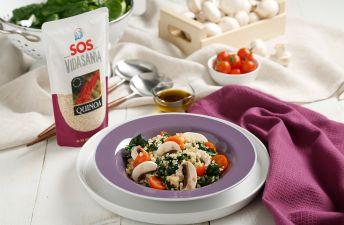 Ensalada de espinacas con quinoa blanca SOS Vidasania