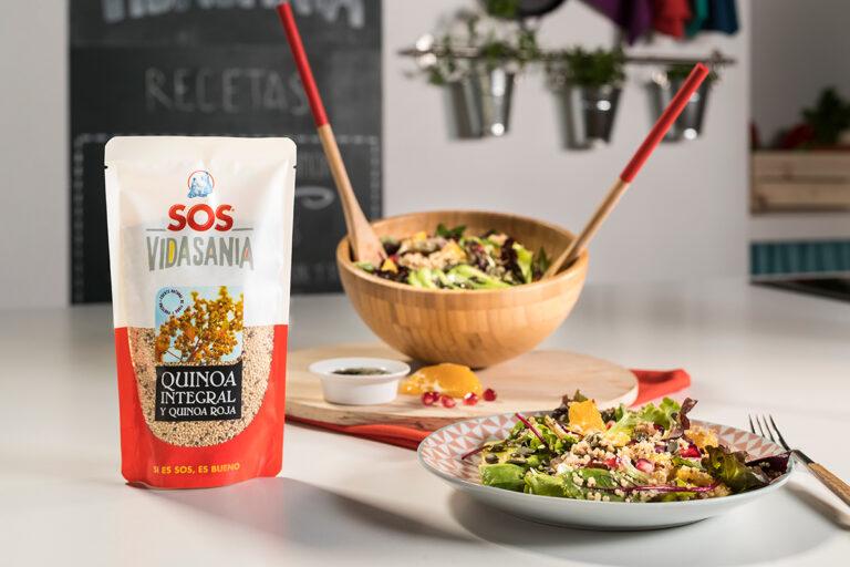 Ensalada de quinoa, naranja y aguacate