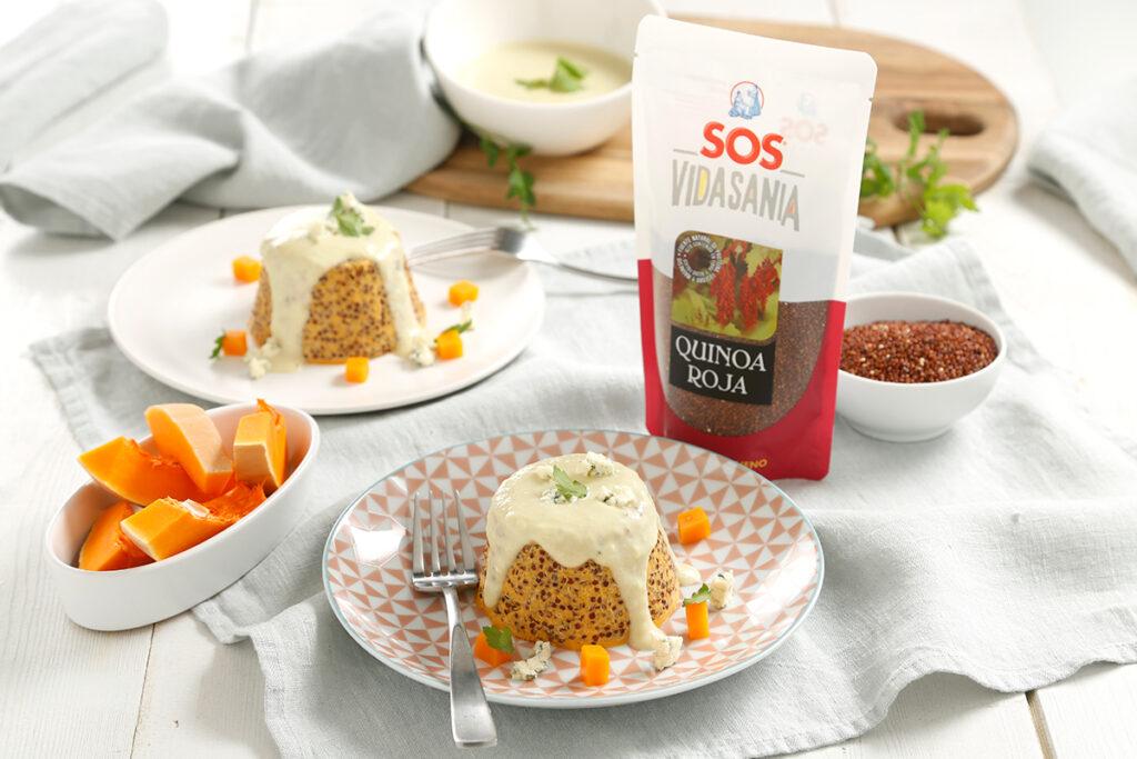 Pudding de verduras y quinoa roja SOS Vidasania