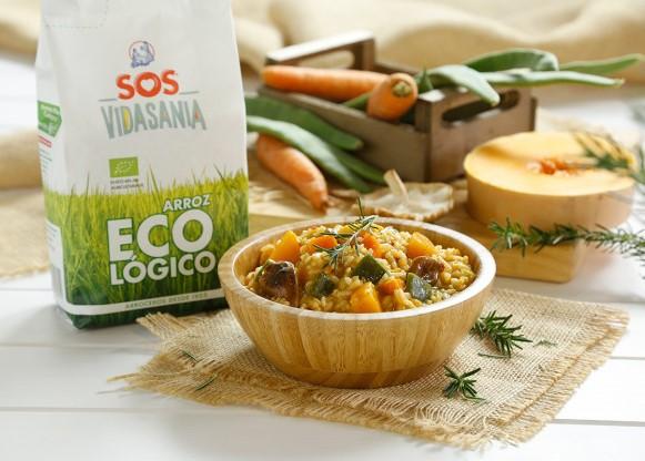 Arroz meloso de calabaza con SOS Vidasania Ecológico