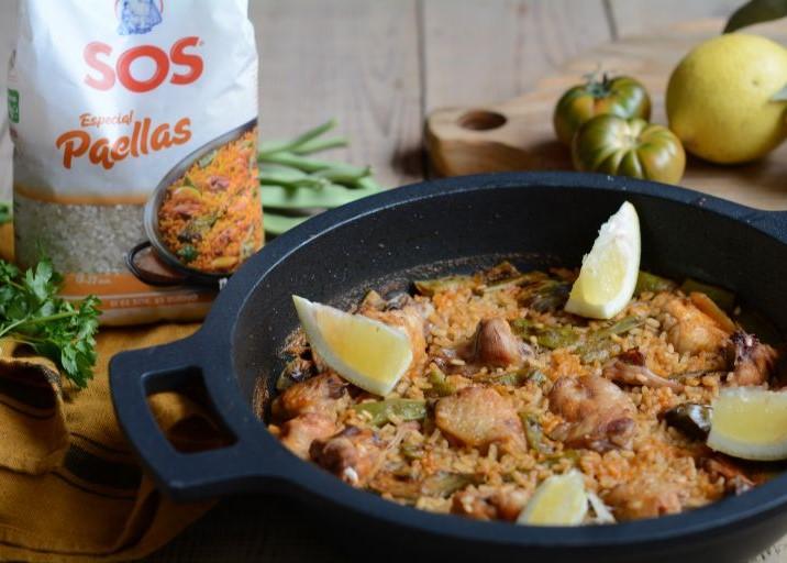 Paella valenciana by Las María Cocinillas con SOS Especial Paellas