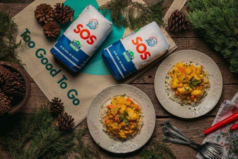 Curry de aprovechamiento con rape y arroz